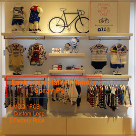 중국 Kids clothing kiosk design with clothing display racks 공장